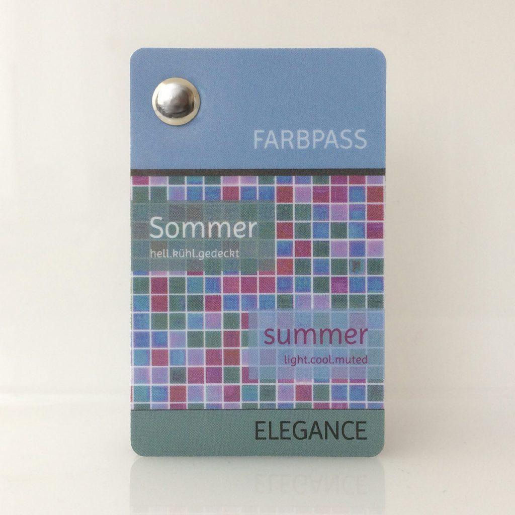 Motiv Farbpass Sommer, Reihe Elegance, geschlossenes Format