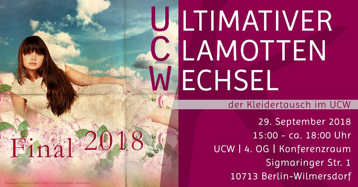 Kleidertausch in Berlin | 29.09.2018 | UCW Final 2018 | Komood, Marion Zens