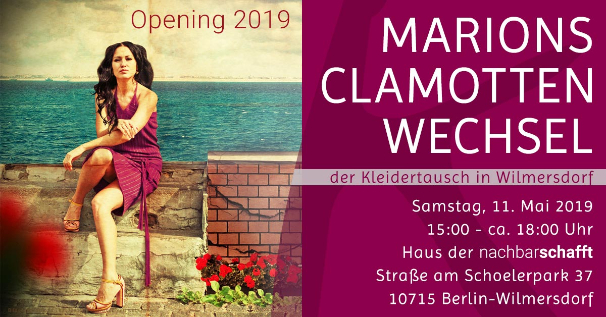 Kleidertausch in Berlin | 11.05.2019 | Opening 2019 im Haus der Nachbarschafft | Komood, Marion Zens