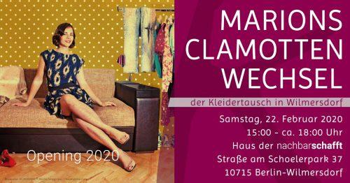 Komood Kleidertausch Opening 2020 – Marions Clamotten-Wechsel @ Haus der Nachbarschafft